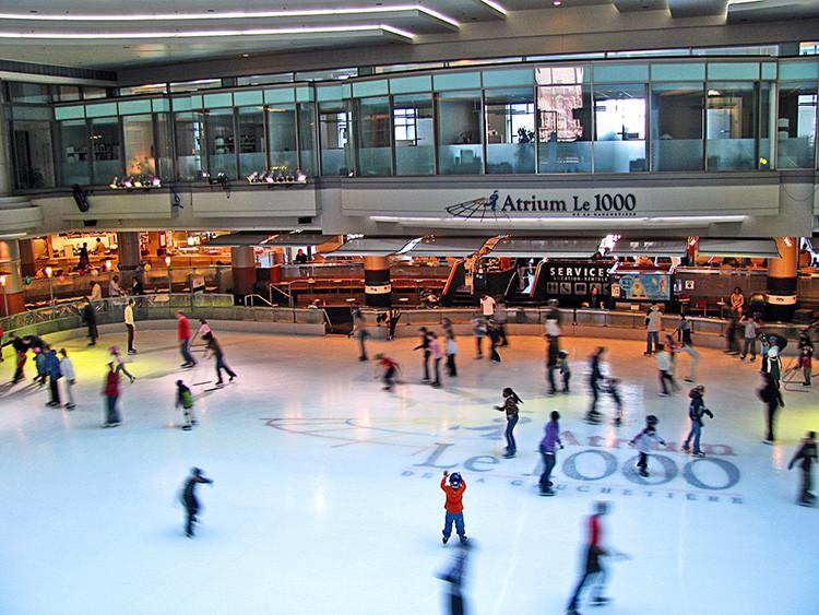 Atrium patinoire Montréal